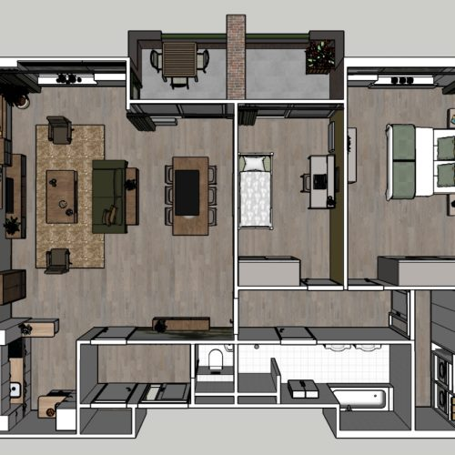 3-kamer Appartement Modern Plattegrond